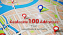 geolocate 100 addresses for you