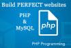 do perfect PHP or mysql programming