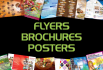 design an attractive flyers, brochures and posters