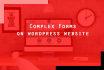 create a complex form on WordPress website