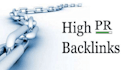 create High Page Rank Backlinks for your site manual