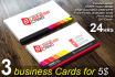 design OUTSTANDING 3business card in 24 hrs