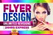design a FLYER Postcard or Brochure in 24 Hours