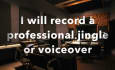 record a jingle and or voiceover