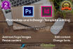 professionally edit your Photoshop or InDesign templates