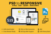 convert psd to responsive html5 css3 with bootstrap