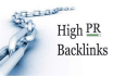 create 70 backlinks by commenting on high PR sites