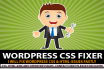 fix wordpress CSS or html errors