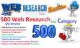 do 500 web or market research work any category