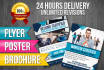 design stunning flyers, brochure, and posters in 24hr