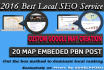 local Seo Google Map Creation and Pbn Embed