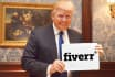 make Donald TRUMP hold your sign in 5 Different Pictures