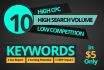 do 10 High cpc Seo KEYWORDS Research