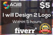 design 2 logo within 5 hours