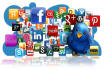 manually create 50 social profile accounts on High PR sites