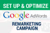 set Up Google Remarketing Adwords Campaign