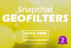 design snapchat geo filters and fb covers