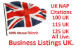 manually Create 100 Live Local Citation Listings for UK