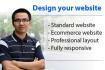 design Wordpress and create Wordpress site