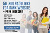 create 50 Real High PR edu backlinks