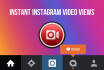 give you Instagram video views instantly