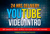 create Amazing YouTube Video Intro in Full HD,