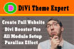 use DiVi theme to create your wordpress website