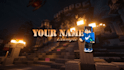 create a Minecraft YouTube banner