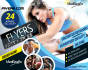 design FItness or GYM flyer In 24 hours