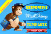 design Responsive and Editable MAILCHIMP Template