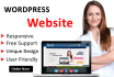 make professional website  within 3 days