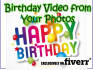 make a Happy Birthday video with your photos
