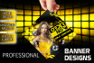 create a professional web banner,header,cover