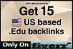 build 15 US based Edu BACKLiNKS MANNUALLy