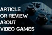 write an article or review about video games