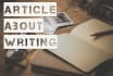 provide an article or blog post about writing