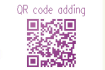 add a QR code on any of your designs