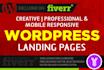 create RESPONSIVE WordPress landing page design