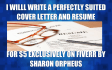 write a perfectly suited cover letter and resume