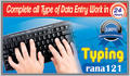 complete all type of Data Entry work in 24 hours