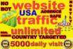 send genuine targeted 5000 daily website,traffic,visitors
