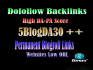 give you permanent links 5Site DA30 Different IP