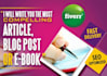 genuinely write a 500 word article, blog post or eBook