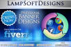 create a professional web banner