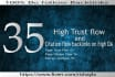 give you 35 high Trust flow links on high da and pa