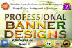 create a web banner,cover,header PROFESSIONALLY