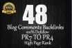 give you manually 48 blog comment 100 OBL PR7 to PR4