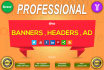 design creative eye catching  banner,headers,cover,ad for web