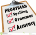 proofread and edit your article, blog, or any online content