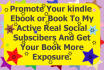 do KINDLE book or ebook promotion